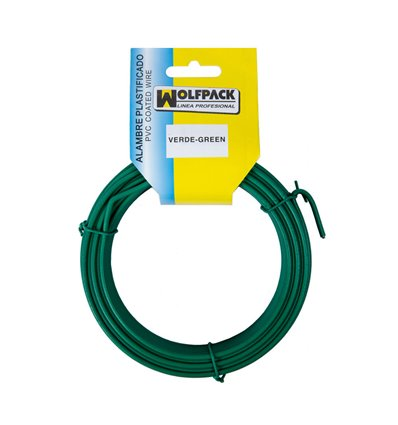 Alambre Plastificado (Rollo 20 Metros) Verde Nº 16 / 2.7 mm.