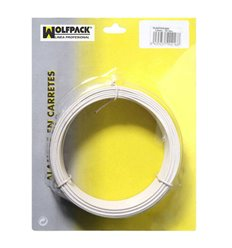 Alambre Plastificado Maurer 1,2 mm Blanco (Rollo 50 metros)