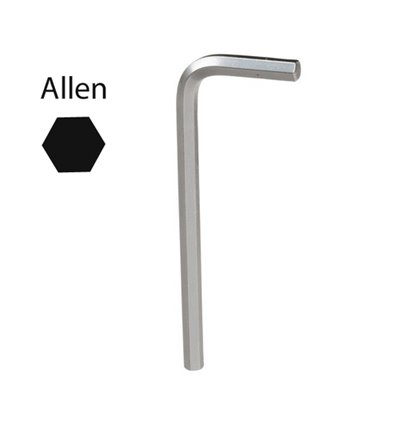 Llave Allen Maurer Cromo Vanadio Profesional 4,0mm